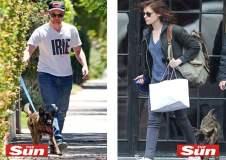 Kristen Stewart y Robert Pattinson con su perro Oso