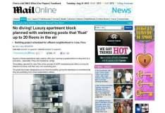 Publicación del Daily Mail que alude a piscinas flotantes como un lujurioso proyecto