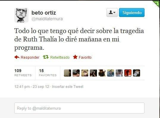 Twitter de Beto Ortiz