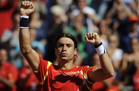 David Ferrer le otorgó a España su primer punto en semifinales de Copa Davis