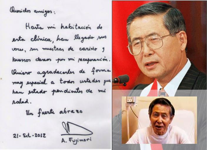 Manuscrito de Alberto Fujimori