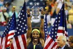 Serena Williams celebró su cuarto título del Abierto de Estados Unidos al coronar un espectacular torneo