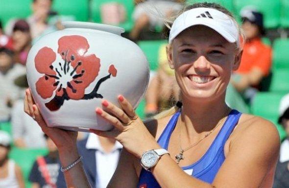Más que un título. Wozniacki logró su primer torneo del año en Seúl, en una temporada casi para el olvido