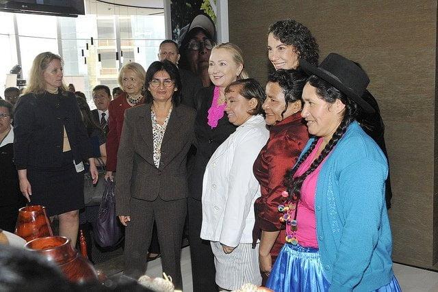 Nadine Heredia y Hillary Clinton