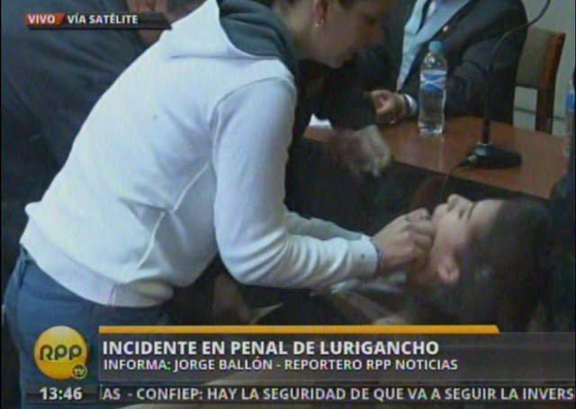 Eva Bracamonte sufre desmayo / Captura RPP TV