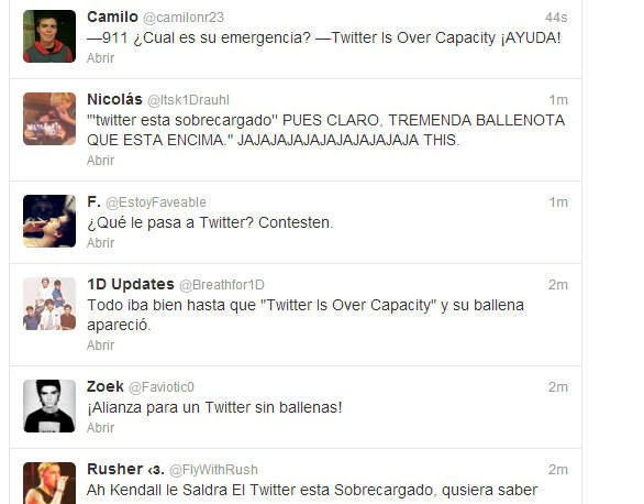 Usuarios de Twitter indignados