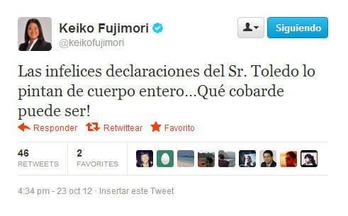 Tuit de Keiko Fujimori