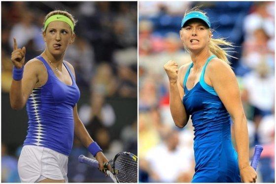 Las principales tenistas del circuito femenino Azarenka y Sharapova, avanzaron a semifinales de Pekín