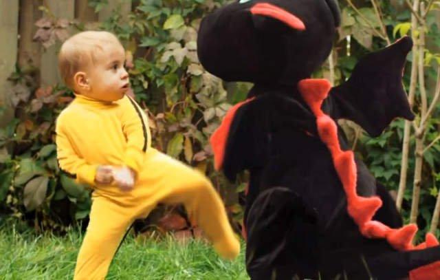 El bebe karateka