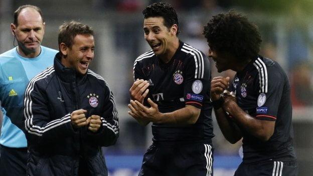 Claudio Pizarro anotó un triplete con el Bayern Munich en la Champions League