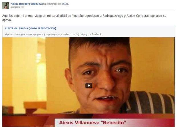 Facebook real de Bebecito Emoxito, Alexis Alejandro Villanueva