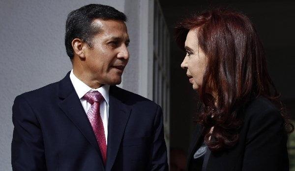 Ollanta Humala y Cristina Fernández