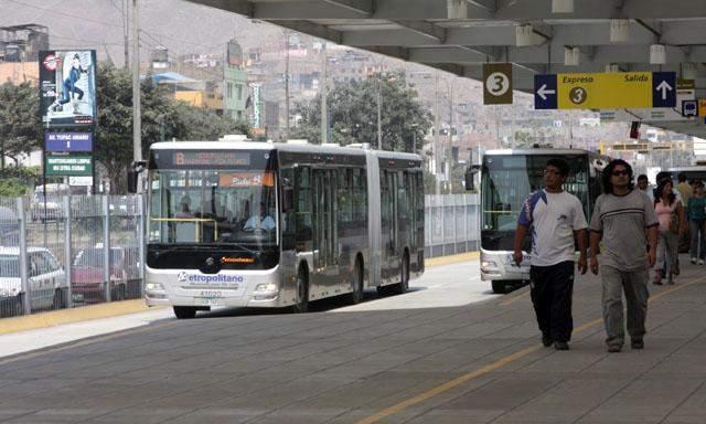 Metropolitano sólo ofrecerá rutas A,B y C por feriado
