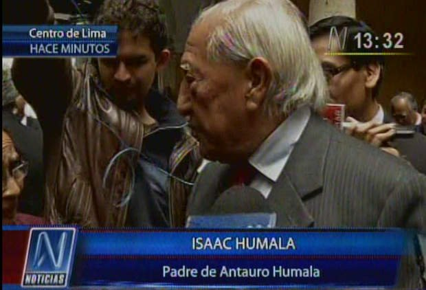 Isaac Humala choca con Elena Tasso