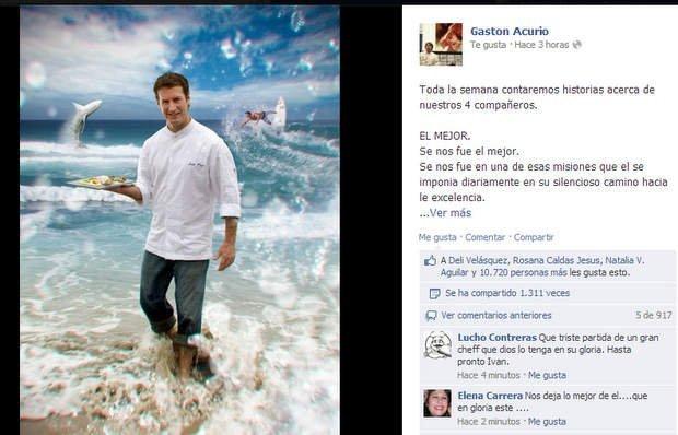 Gastón Acurio recordó a Iván Kisic