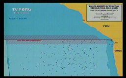 Mapa que registra capturas de embarcaciones (Captura TV)