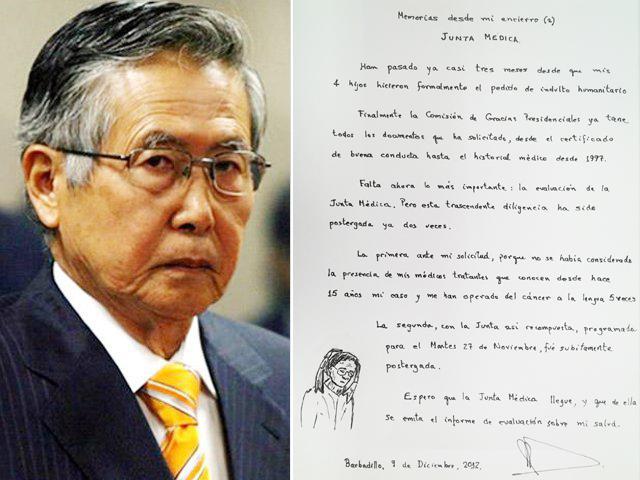 Carta Alberto Fujimori (RPP)