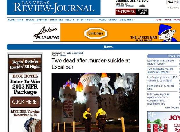 Portada de Las Vegas Review Journal