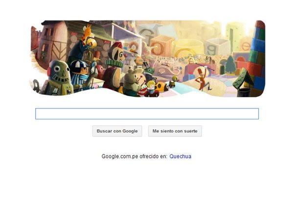 Portada de Google hoy 24 de diciembre