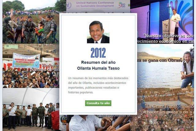 Lo mejor del año en el perfil de Ollanta Humala