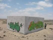 Pintas en muro cerca al Alto del Alianza (Diario Correo)