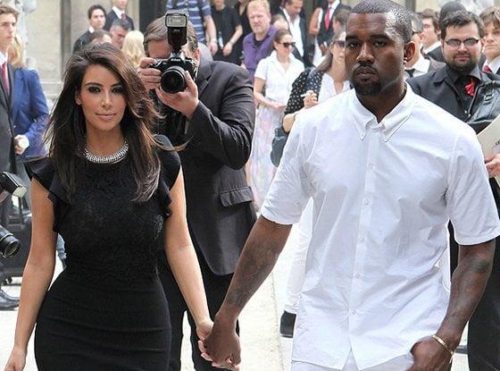 Kim Kardashian y el rapero Kanye West (Foto: Eonline)