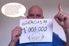 Gian Marco feliz con el millón de fans