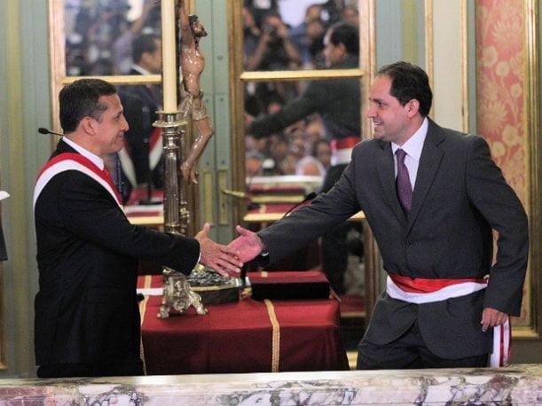 Ollanta Humala y José Villena, en momentos mejores