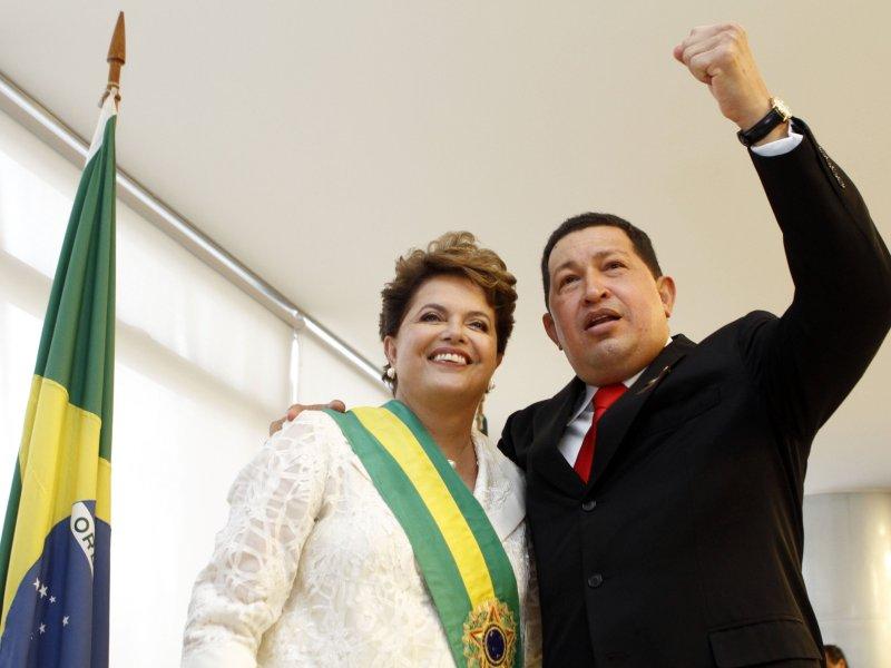 Dilma Rousseff, preocupada por situación del régimen de Venezuela