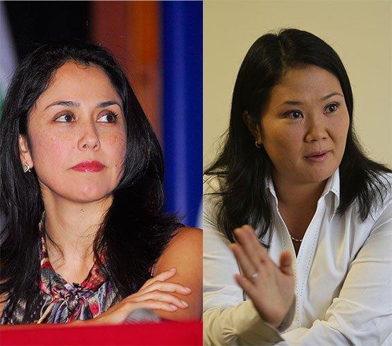 Nadine Heredia y Keiko Fujimori