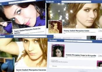 Algunos de los perfiles falsos que usan identidad de Yasmy Isabel Marquina Casas (Facebook)