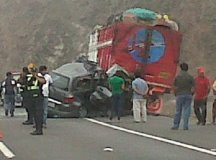Accidente en la Panamericana Sur (Twitter / @danivassallo)
