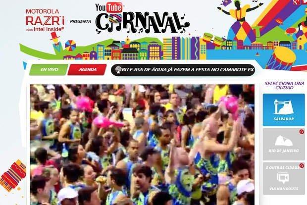 Youtube transmite el Carnaval de Brasil en vivo