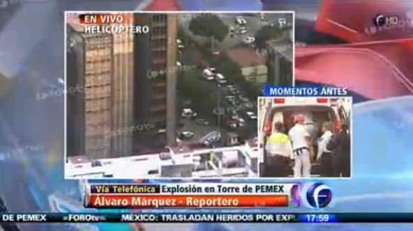 Explosión en Torre Pemex (Foro TV)
