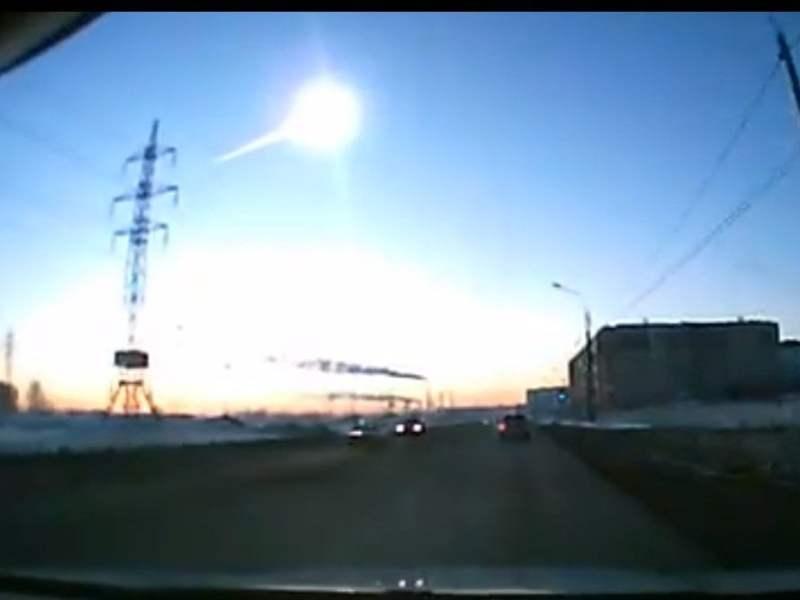 Potente meteorito que cayó sobre Rusia