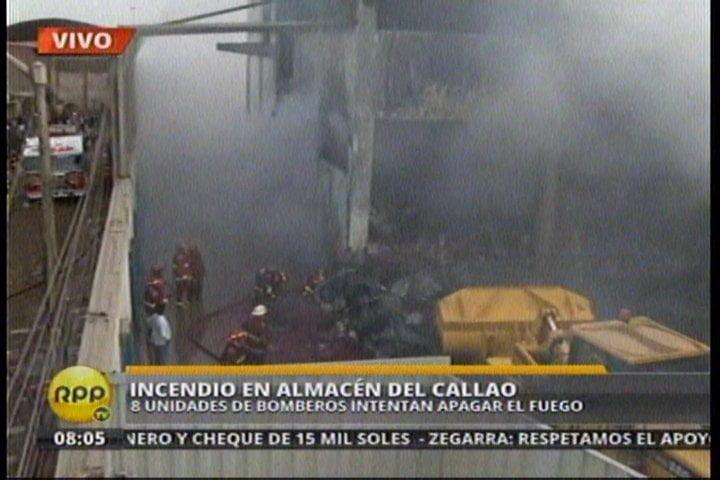 Incendio en el Callao (Foto: RPP Noticias)