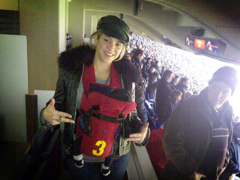 Shakira y Milan (Facebook)