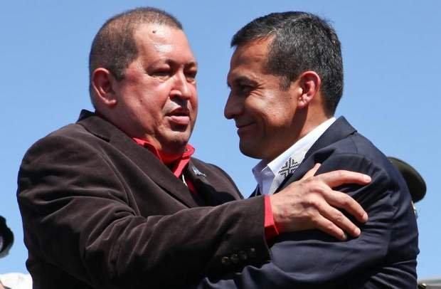 Hugo Chávez y Ollanta Humala