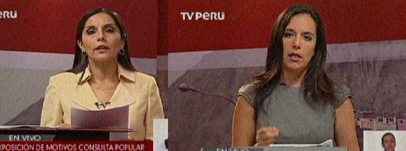 Debate entre patricia Juárez y Marisa Glave