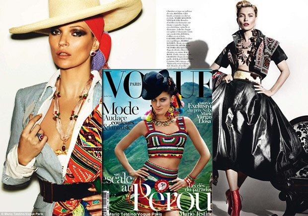 Perú en la portada de Vogue París y con Kate Moss gracias a Mario Testigo (Foto: Daily Mail & Mario Testino)