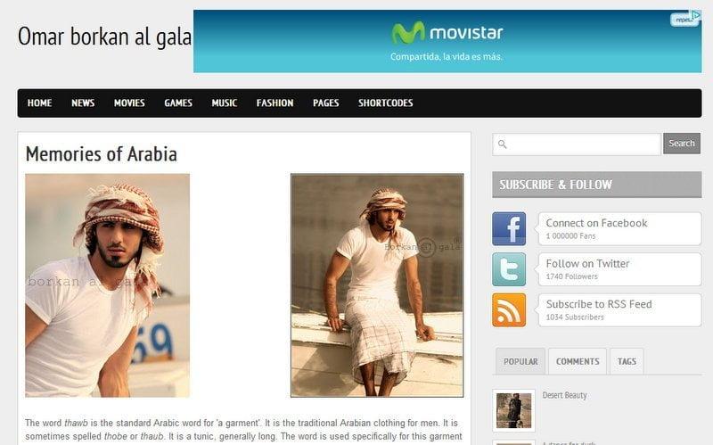 Árabe expulsado por ser demasiado bello tiene blog y dice que ama el desierto