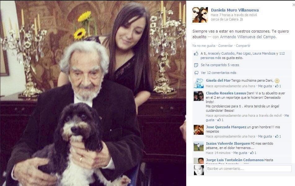 Nieta De Armando Villanueva Siempre Vas A Estar En Nuestros