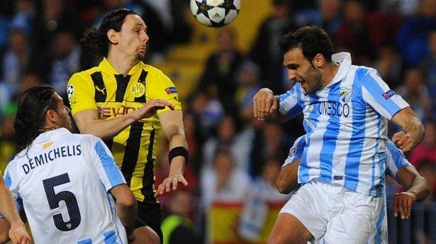 Cero en el marcador a pesar del dinamismo que impusieron. Málaga y Borussia Dortmund fue la serie más cerrada de los cuartos de final.