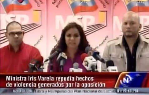 Ministra chavista amenaza a Capriles