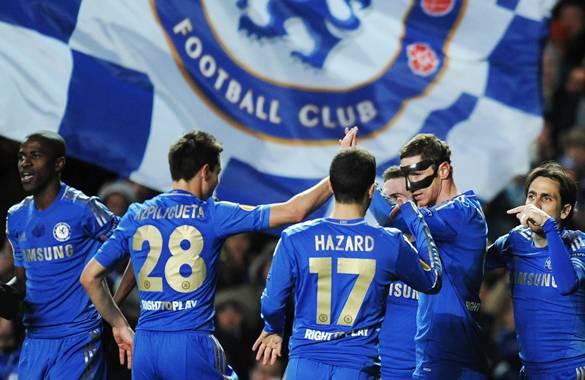 Chelsea dio un pase importante en su objetivo de campeonar en la Europa League al derrotar en casa Al Rubin Kazan.