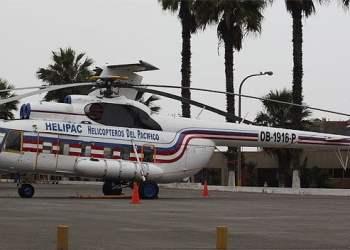 Este es el helicóptero siniestrado con 13 pasajeros en Loreto (Internet)