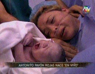 Combate transmitió parto en vivo de Sheyla Rojas (Video)