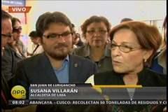 Susana Villarán y próximo teniente alcalde Hernán Núñez