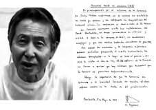 Según Alberto Fujimori hay intereses para que no le otorguen indulto