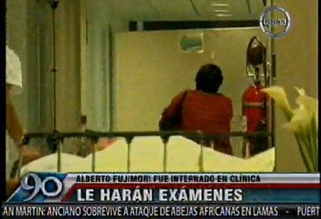 Internaron a Alberto Fujimori en clínica local por problemas digestivos